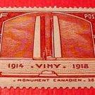 France Scott #311 Canadien War Memorial at Vimy 1936