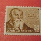 """German Democratic Republic Scott's #176 A46 """"Lucas Cranach"""" Oct.16,1953"""