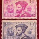 France Scott #296/297 A52 Cartier's Discovery of Canada