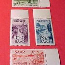"Saar Stamp set B61-64 SP 32,33 ,"" Hochwasser-Hilfe"" Floods Oct.12,1948"