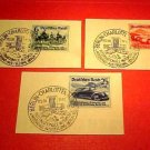"German Scott's set B134-136 SP115 1939 ""Early types of Cars"" Pre Canceled RARE !"