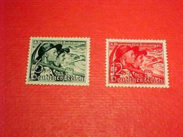 "German Scott's set B132-133 SP114 Dec.2,1938 "" Sudetan Couple"" Mint-Never Hinged"