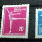 "German GDR Scott's 555-557 A180 ""Europa Cup for Women's Gymnastics "" Apr.4,1961"