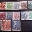 """German Scott's #557-577 A120-124 """"Germany Reaching for Peace"""" 1947-8"""