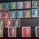 """German Scott's #506-527 A115-A116 """" Adolf Hitler"""" 1941-1944"""