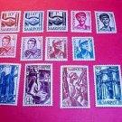 Saar Stamp set 188-200 M/NH/OG April 1,1948