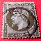 France Scott #22 1c A3 Empire Napoleon Canceled