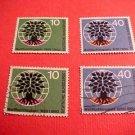 "German Scott's # 807-808 A216 ""Uprooted Oak Emblem"" Apr.7,1960"
