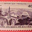 France Scott #673 A215 Observatiory,Pic du Midi 1951