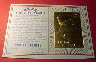 """France Scott #1322 CD134 Charles DeGaulle""""Cover""""set 1890-1970 Nov.9,1971"""