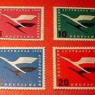 "German Scott's #C61-64 AP1 ""Lufthansa Emblem"" March 31,1955 Full set"