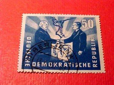 "German Democratic Republic Scott's #81 ""Polish-German Handshake"" Used"