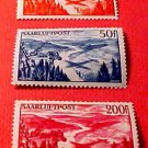 Saar Stamp set Scott #C9-C11 AP3 M/NH/OG Apr 1. 1948