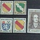 German Scott's set #4N1-4N13 OS3-OS10 French Occupation 1945-1946