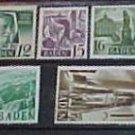 """German Scott's #5N1-5N13 'Baden"""" 1947"""