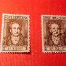 German Scott's #4N11 OS8 French Occupation 1945-1946 Johann Wolfgang von Goethe