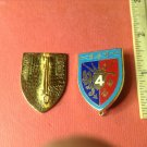 Vintage Pair of French Enameled Militaire pins Boussemart G 441 Rgt de Hussards