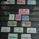 "German GDR Scott's #549-564 A177-A183 ""In Order from Scott Catalog""1961"
