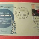 France Scott #1117 A432 First Day Cover 20th Anniv Paris-New York Air France