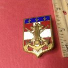 Fabulous Vintage Enameled French Militaire pin by Drago of Paris #2275