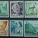 """German Scott's set #6N1-6N15 OS1-OS12 """"Rhine Palatinate"""" 1947-1948"""