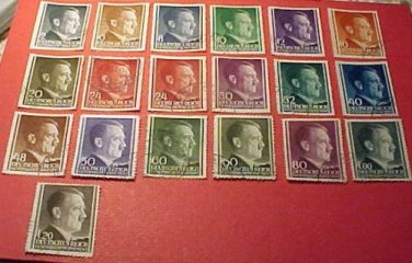 "German GeneralGouvernment ""Polish Occupation"" Deutsches Reich set 1941-1944"