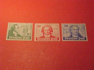 "German Scott's set #9N61-9N63 'Goethe and Iphigenie"" July 29,1949"