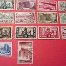 Saar Stamp set Scott # 232-245 A70-A73 canceled