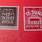 "German Scott's set #9N99-9N100 ""Strike of East German Workers"" Aug.17,1953"