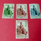 Saar Stamp set 222-224 canceled June 29,1950