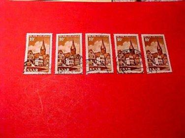 Saar Stamp Scott # 225 A56 canceled ,July 10,1950