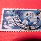 Saar Stamp Scott # 226 A57canceled Aug,8, 1950