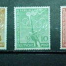 "German Scott's set #9N81-9N83 ""Olympic Symbols"" June 20,1952"
