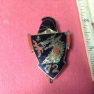 Vintage French Enameled Fire Breathing Dragon Military pin by Drago #3041