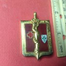 Vintage Enameled French Militaire pin by Drago of Paris G2427