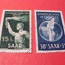 Saar Stamp Scott # B89-90 SP 44