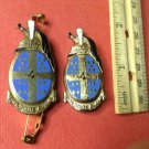 Vintage Enameled French Militaire pins G2166s by Drago of Paris Great Pair