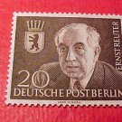 "German Scott's set #9N104 A14 ""Prof. Ernst Reuter Mayor of Berlin"" Jan.18,1954"