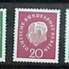"German Scott's set #9N165-169 A208 ""Pres, Heuss"" 1959"