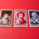 Saar Stamp Scott# B92-94 SP46 Nov.3,1952