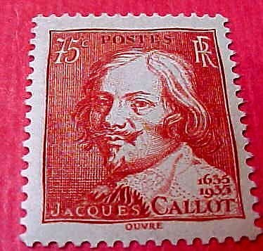 France Scott #305 A59 Jacques Callot M/NH/OG