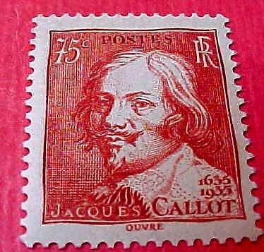 France Scott #305 A59 Jacques Callot M/NH/OG