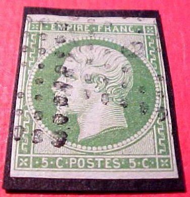 France Scott #13 A3 II Empire Napoleon III Canceled