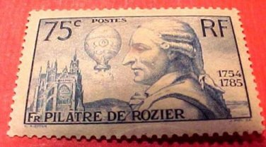 France Scott #308 A62 Pilatre de Rozier June 4,1936