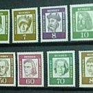 "German Scott's set #9N176-190 A44 ""Portraits"" 1959"