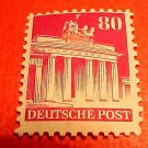 German Scott's #655a. A130 80 pf Perf.14 Brandenburg Gate, Berlin