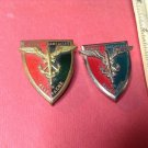 Vintage Enameled French Militiare Pins by Drago pair of 803s