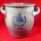 "Antique French Salt Glazed ""Confit Pot a' Gras ""circa 1850"