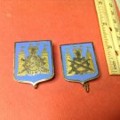 Vintage Enameled French Militaire pins pair of Drago 1539s