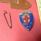 Vintage Enameled French Militaire Badge pin by Drago #951